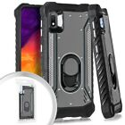 For Samsung Galaxy A10E S102DL SM-A102V SM-A102U Metal Jacket Stand Case Cover