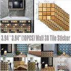 3d Waterproof Bathroom Kitchen Tile Mosaic Sticker Self-adhesive Wall Home Decor
