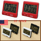 US Magnetic LCD Digital Kitchen  Large Timer Loud Alarm Count-Down Up Clock