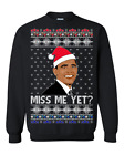 President Barack Obama Miss Me Yet Santa Funny Ugly Christmas Sweater Gift