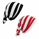 Elf Pirate Gnome Red Black Slouch Stripe Beanie Christmas Costume Accessory Hat