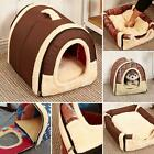 IGLOO BED PET HOUSE BRICK WALL/STARS FOLDABLE ALL SEASONS WARM CATS DOG NEST NEW