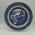 Lot Of 10 Churchill England Blue Willow China Ironstone Dinner Plates, Cups Mugs