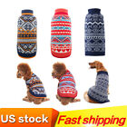Cute Sweater for Dog Clothes Christmas Knitted Apparel for Small to Large Dogs