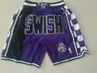 HOT Sacramento Kings Retro Mesh Purple Basketball Shorts Size: S-XXL on eBay