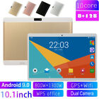 "10.1"" inch HD 8 128GB Tablet PC Android 9.0 Ten Core Dual Camera SIM GPS Phablet"