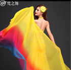 gradient color belly dance silk veil with size 2513m