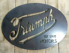 Metal Sign TRIUMPH MOTOR CYCLE VINTAGE 1902 Wall Art Hand Finished bar Man Cave £115.0 GBP on eBay