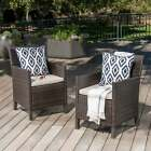 Cypress Outdoor Wicker Dining Chairs With Cushions (set Of