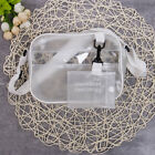 New Women Transparent Bag Clear PVC Jelly Chain Bag Tote Crossbody Shoulder Bags