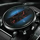 Mens Watch Military Stainless-Steel Date Sport Quartz Analog Fashion Wrist Watch image