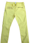 M&S Ladies Skinny Stretch Jeans Yellow Super Soft Cotton Mix Size 16 Long BNWT