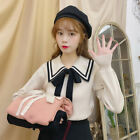 Preppy Style Mori Girl Sweaters Long Sleeve Pullover Knitted Loose Student Tops