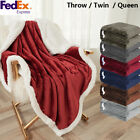 Sherpa Fleece Blanket Plush Flannel Dual Layer Thicke Twin Queen Xmas Promotion image