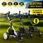 Electric Golf Buggy Golf Trolley Automatic Motorized Foldable 3 Wheel Cart New