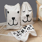 Large Baby Toys Storage Bags Canvas Bear Clothes Laundry Hanging Drawstring Bag