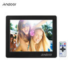 "17"" HD Digital Photo Frame Clock Alarm Music Player Album Remote Control US SHIP"