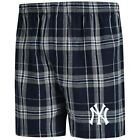 New York Yankees Concepts Sport Hillstone Flannel Boxers - Navy/Gray on Ebay