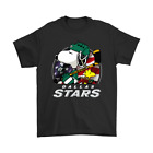 Dallas Stars Ice Hockey Snoopy And Woodstock NHL Funny Black T-Shirt S-6XL $19.79 USD on eBay