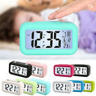 Digital LCD Alarm Clock With LED Backlight Time Calendar Thermometer Temperature