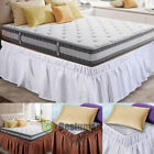 "Hotel Quality Tailored Bed Skirt/Dust Ruffle -Pleated, Box Spring Cover 15"" Drop image"