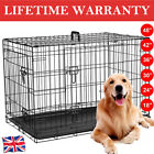 Small Medium Large XL XXL Pet Dog Cage Crate Foldable Carry Transport Carrier UK