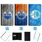 Edmonton Oilers Leather Passport Holder Cover Case Travel Wallet $7.99 USD on eBay