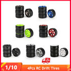 4pcs Rc Drift Tires Set For 1/10 Traxxas Hsp Tamiya On-road Drifting Car Parts P