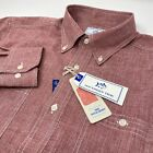 Southern Tide Mens Dock Performance Long Sleeve Button Down Charleston Red Shirt