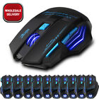 Adjustable 2400DPI LED Computer 7 Button Wireless Mouse Optical Game Mice For PC