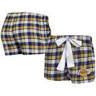 Los Angeles Lakers Concepts Sport Women's Piedmont Flannel Sleep Shorts - on eBay