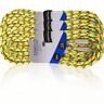 More images of 3x Electric Guitar Lead 6m Braided Sheild Tweed Style Cable Gold Tip Jack YELLOW