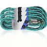 More images of 3 x Electric Guitar Lead 6m Braided Sheild Tweed Style Cable Gold Tip Jack GREEN