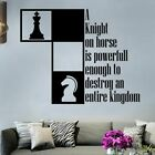 Knight Horse Motivation Quote Vinyl Wall Art Decor Sticker For Home Room Decal