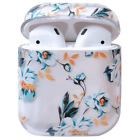 For Apple Airpods 1 2 Pro Charging Case Clear Hard Cover Cute Flower Floral Girl
