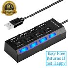 High Speed 4 Port USB HUB 2.0 Multi Splitter Expansion Desktop PC Laptop Adapter
