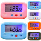 LED Alarm Clock Snooze Digital Calendar Travel Table Backlight Night Light Home