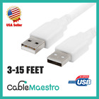 USB 2.0 Extender Extension Cable Cord Type A Male to A Male 3-15FT HIGH SPEED