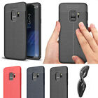 For Samsung Galaxy A6/ A8 Plus 2018 Phone Case Rubber Soft Leather Texture Cover