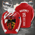 Kansas City Chiefs Patrick Mahomes #15 3D Pullover Hoodie Full Over Printing $43.99 USD on eBay
