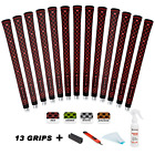 Golf Grips Midsize 13 Pieces 4OZ Solvent, Free Tapes, Hook Blade, Clamp Included