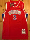 BRAND NEW Allen Iverson #3 Men's Rookie Philadelphia 76ers Red Throwback Jersey on eBay