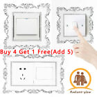 Resin Light Switch Surround Socket Plate Panel Luxuriou Cover Wall Sticker Decor
