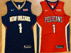 Kyпить Zion Williamson #1 New Orleans Pelicans Mens Basketball Stitched RED/NAVY Jersey на еВаy.соm