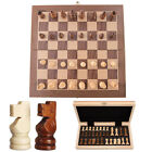 Kids Chess Set Foldable Chessboard Solid Wood Magnetic Chess Board Checker Home