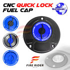 FRW BK/BU CNC Quick Lock Fuel Cap For Ducati Monster S4R S2R All Year 03