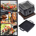Camping Outdoor Party Charcoal BBQ Grill Plate Patio Portable Barbecue