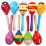 More images of 10pc Wood Kids Maracas Rattles Child Baby Infant Sand Hammer Musical Shaker Toys