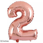 "32"" Navy Pink Digital Number Balloons Large Big Foil Mylar For Birthday Party"