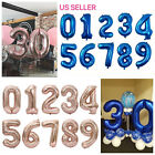 32' Blue Pink Navy Digital Number Balloons Large Big Foil Mylar Birthday Party